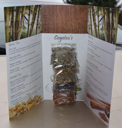 Tea sampler pack inside