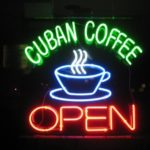 Cuban coffee sign