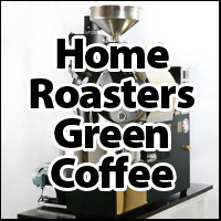 Home roasters green coffee